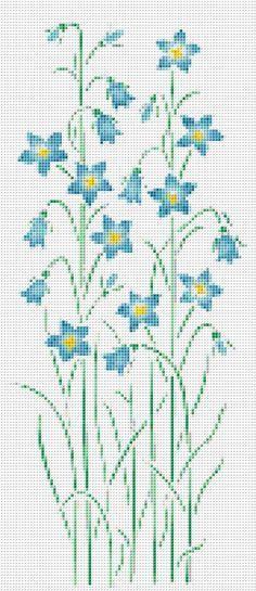 Blue Wildflower Cross Stitch Pattern Flower by xstitchpatterns