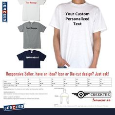 custom text tshirt Personalized Text On Front T-Shirt using long lasting vinyl print custom tee by CREEKTEE Student Rewards, Window Signage, Online Modeling, Custom Tees, Quality T Shirts, Love T Shirt, Text You, Custom Stickers, Mens Tops