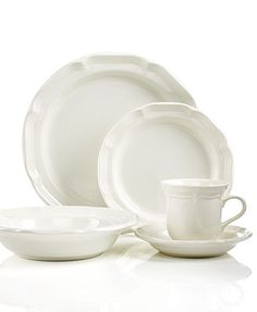 Mikasa Dinnerware, French Countryside Collection. Momma had this for her wedding & would be cool for mine too.