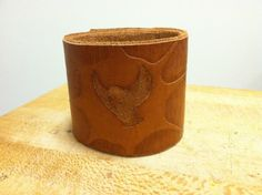 Tooled Leather Cuff #accessory #jewelry #leatherworking