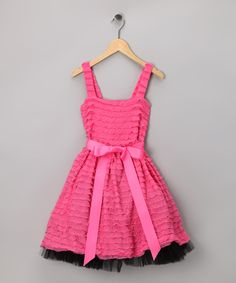 Take a look at this Pink Ruffle Dress - Toddler & Girls by Girly Go-Tos: Sets & Separates on today! Pink Ruffle Dress, Ruffle Fabric, Toddler Girl Dresses, Toddler Girls, Cute Dresses, Summer Dresses, Kid Styles, Frocks, Dress Making