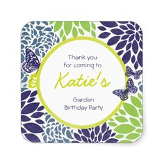 Butterfly Garden Sticker