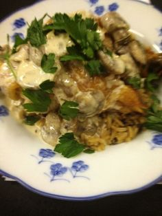 Chicken Wild Rice with a Rosemary Mushroom Sauce Entree Entry