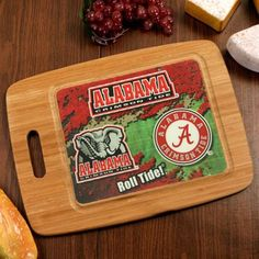 Alabama Crimson Tide Gourmet Bamboo Cutting Board  -  #Ultimate Tailgate #Fanatics