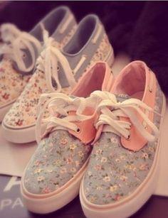 Cute, floral shoes