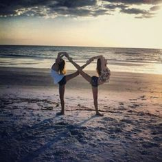infinity best friends.. Haha as much as i wish we could do this.. We'd kick each other in the head.