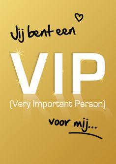 Vriendschap kaarten - Jij bent een VIP voor mij