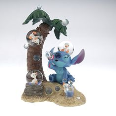 Disney Limited Edition Snowglobes: Stitch and Ducklings Limited Edition Snowglobe