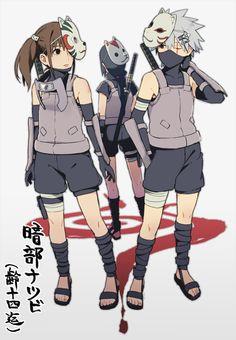Uchiha Itachi, Yamato Tenzo, and Hatake Kakashi