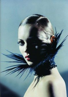"""Perchance to Dream"" | Model: Kate Moss | Photograph by Mario Sorrenti | Harper's Bazaar US | April 1998."
