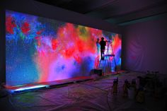 """collaboration project of artists Norimichi Hirakawa and Houxo Que, entitled """"days and nights"""""""