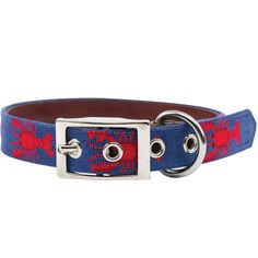 Smathers and Branson Lobster Needlepoint Dog Collar