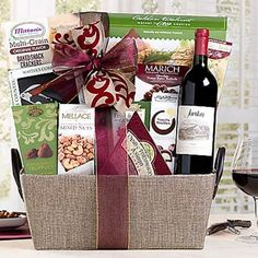 Business Gourmet Wine Basket. See more at www.pro-gift-baskets.com!