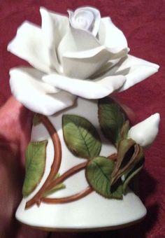 Blue Moon, Fine Porcelain Rose, Bell, Leslie Greenwood, Franklin Mint