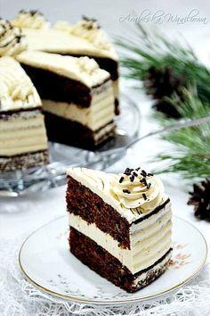 Czekoladowe ciasto z kremem z serka mascarpone   Arabeska