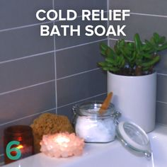 Make Your Bath Work Double Time With These Homemade Cold Relief Bath Salts Your Bath Work Double Time With These Homemade Cold Relief Bath Salts,Nifty Science DIY Cold Relief Bath Soak Like:. Do It Yourself Videos, Make Up Tutorial, Ideias Diy, Diy Spa, Simple Life Hacks, Natural Health, Natural Life, Just In Case, Natural Remedies