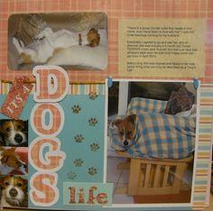 dog scrapbook page ideas -