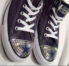 06df3cebadca Dallas Cowboys Swarovski Crystal Blinged Converse Shoes - FREE SHIPPING. Custom  Shoes ...