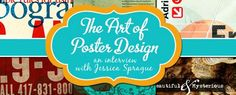 The Art of Poster Design - Interview with a designer on poster design, font organization, font selection, color selection and more.