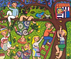 Isabella's Garden by Glenda Millard. Illustrated by Rebecca Cool. Vibrant and engaging Art Lessons, Naive Art, Naïve Artist, Art Contest, Puzzle Art, Naive Painting, Drawing For Kids, Art Competitions, Memory Illustration