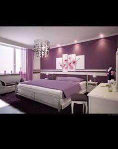 Pretty in purple girl teen bedroom idea.
