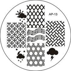 Nail Art Stamp Stamping Image Template Plate AP Series NO.13 2016 - $1.99