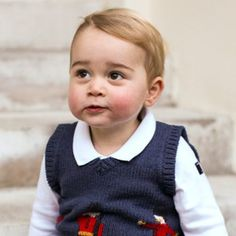 What a handsome young man! New, official, Christmas photos of Prince George, the 16-month-old tod...