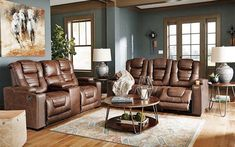 Living room goals. Loveseat Recliners, Power Recliners, New Furniture, Outdoor Furniture Sets, Dark Brown Sofas, Drop Down Table, Power Reclining Loveseat, Living Room Sets, Sofa Set