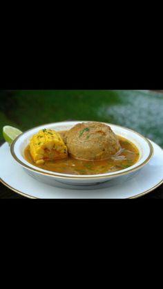 Caldo de bolas. Ecuadorian food