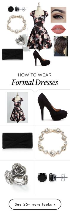 """""""Formal Lunch"""" by randimarie666 on Polyvore featuring BERRICLE, Marchesa, Natures Jewelry, Lime Crime and Reiss"""