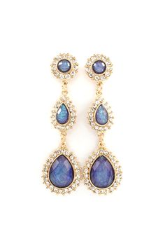 Danika Dangle Earrings in Opalescent Blue.