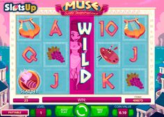 Get inspired for success in Muse free slot by NetEnt! The bright and colorful Muse is the 5-reel, 25-payline slot with three charming muses and such features as Expanding, Sticky and 2x Wilds, a Scatter icon and up to 30 free spins with different Wilds and multipliers. Find yourself in the seventh heaven while playing this slot at www.SlotsUp.com