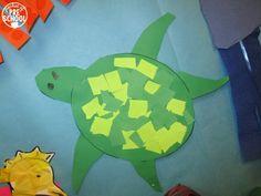 Ocean Animal Crafts and Ocean Mural - Pocket of Preschool Rainbow Fish Coloring Page, Ocean Mural, Ocean Animal Crafts, Turtle Crafts, Reading Themes, Seaside Theme, Preschool Themes, Ocean Themes, Activities