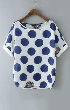 Blue Polka Dot T-Shirt – Trendy Road