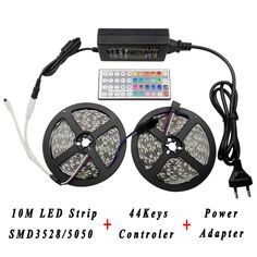 Find More LED Strips Information about LED Lighting Strip Set 12V Power Adapter supply 44keys RGB LED IR Remote Controller 10M Tape Stripes SMD3528 5050 RGB led strip,High Quality strip eyelashes,China stripped screw Suppliers, Cheap strip mirror from Shenzhen Raysflt Technology Co., Ltd. on Aliexpress.com