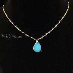 Druzy Necklace, Dainty necklace, womens jewelry, fashion jewelry, druzy gem