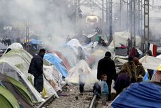 Macedonia trucked about 1,500 migrants and refugees back to Greece after they forced their way across the border, as European nations continued to pass the buck in a migration crisis that risks tearing the European Union apart