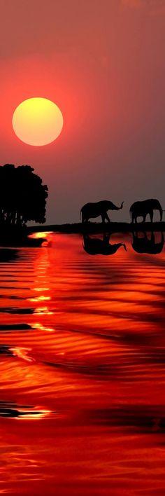 Sunset at Gaborone, Botswana | Africa