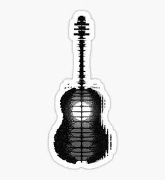 Shawn Mendes Guitar Tattoo Sticker