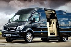Senzati has taken the Mercedes Sprinter and are offering an interior customization called the Jet Sprinter that turns the inside of the Mercedes into what looks like the luxurious cabin of a private jet. Mercedes Sprinter Camper, Benz Sprinter, Volkswagen Bus Camper, Camper Van, Jets Privés De Luxe, Luxury Jets, Luxury Private Jets, Sprinter Conversion, Taxi