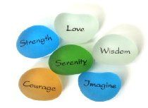 Peace Pebbles - Imprinted Frosted Sea Glass Pebbles