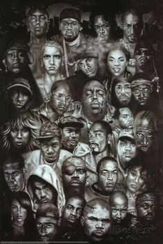 Rap Gods (Rapper Collage) Music Poster Print Poster at AllPosters.com.