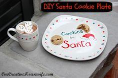 12 Days of Christmas Day 5 {DIY Santa Cookie Plate}