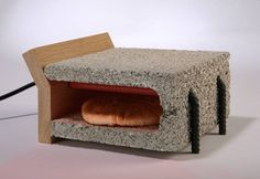 Toaster made from cinderblock  I really love this!!