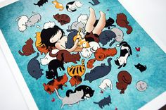 cat pile drawing - Google Search
