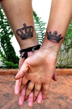 King & Queen tattoo