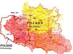 Poland: various incarnations Poland Map, Christian Humor, Alternate History, European History, Teacher Humor, Historical Maps, History Facts, Planer, Illustration