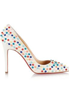 Christian Louboutin Pigalle Spikes 100 leather pumps | NET-A-PORTER
