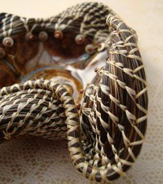 Extreme Undulation Horsehair Wave Basket by pamela zimmerman