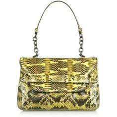Bottega Veneta Ayers-trimmed snake shoulder bag